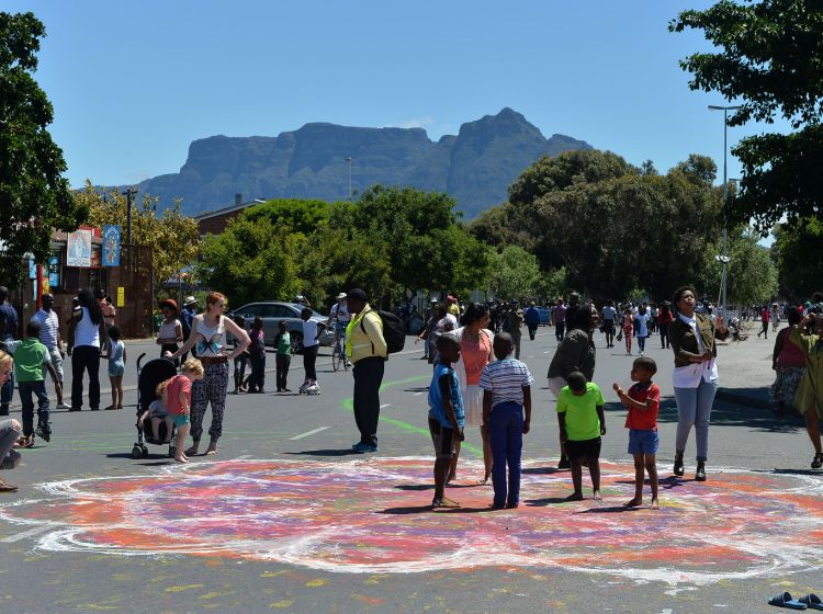 Open Streets event in Langa, Cape Town on 8 November 2015: Changing how streets are used, perceived and experienced. [Photo: Bruce Sutherland]