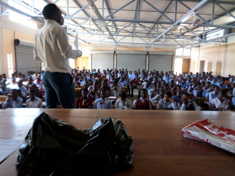 Akonaho Victim Empowerment Programme hosting an awareness-campaign in a local school.