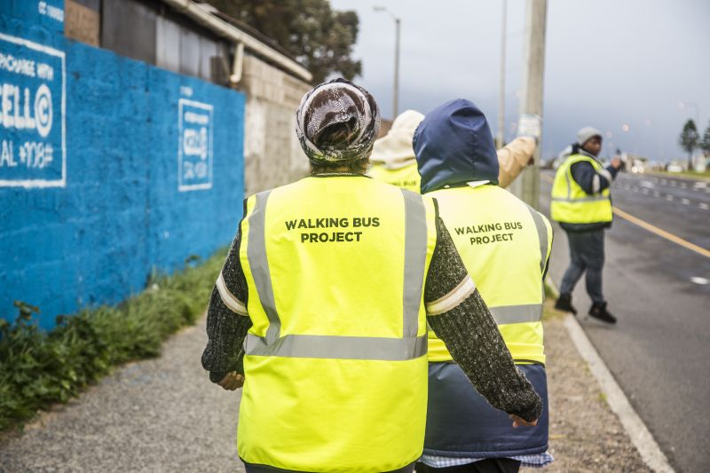 <p><strong>The Walking Bus Project was brought about to ensure safe and supervised trips to and from school, for learners in Cape Town communities that are ridden by gang related activity. </strong></p>