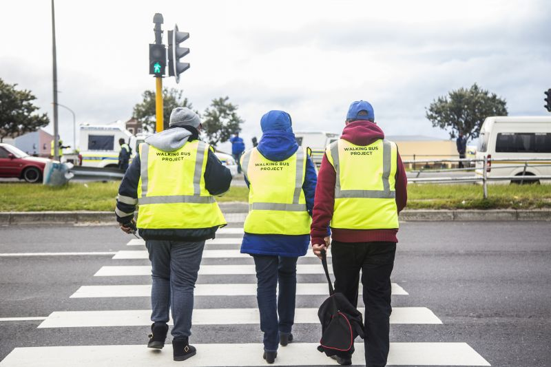 Walking Bus volunteers in Mitchells Plain.