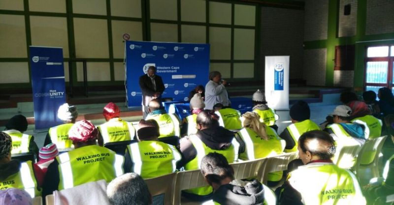 Launch of the Walking Bus Project in Mitchells Plain.