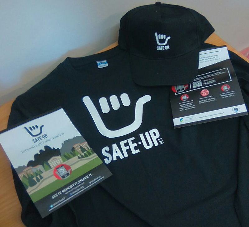 Safe-Up UCT merchandise.